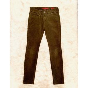 BANANA REPUBLIC Olive Green Skinny Corduroy Pants